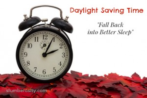 Fall scape with clock. Daylight Saving Time - Fall back